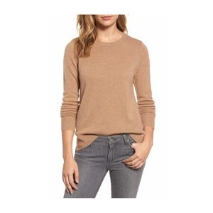 Halogen crew neck cashmere sweater size S